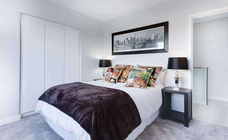 simple and elegant Well designed bedroom