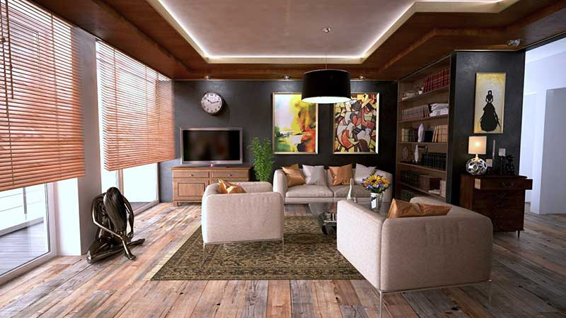 interior design of an industrial living room