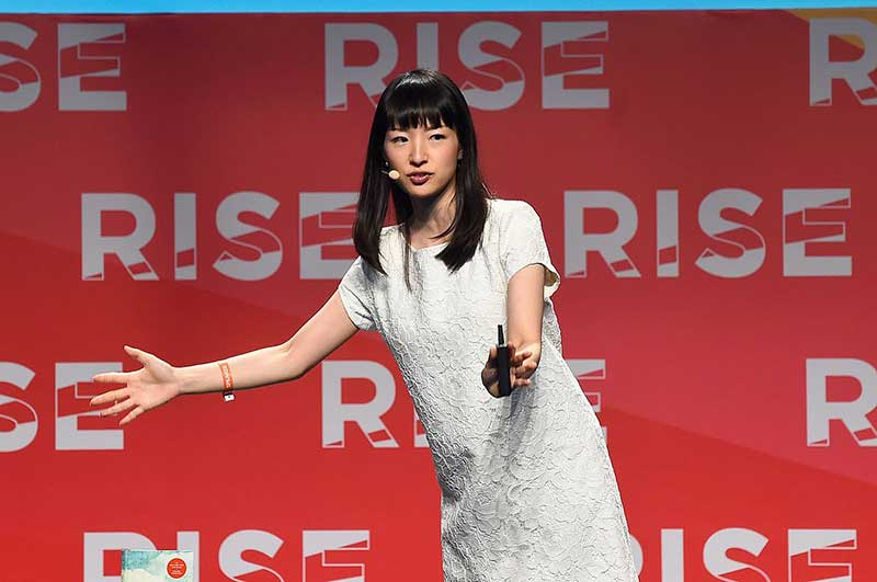marie kondo speaking in a conference in Hong Kong