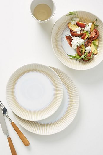 Paper plate on a white surface